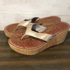 Sam Edelman Cork Wedge Sandals 7M